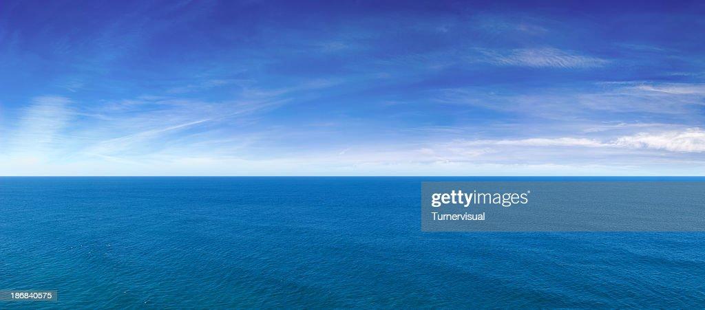 Blue Ocean View Panorama : Stock Photo