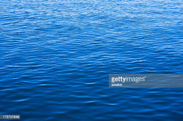 Blue ocean water with waves background