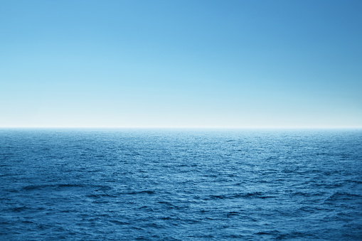 Blue open sea. Environment,travel and nature concept. 1147989465