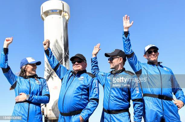 Blue Origin vice president of mission and flight operations Audrey Powers, Star Trek actor William Shatner, Planet Labs co-founder Chris Boshuizen...