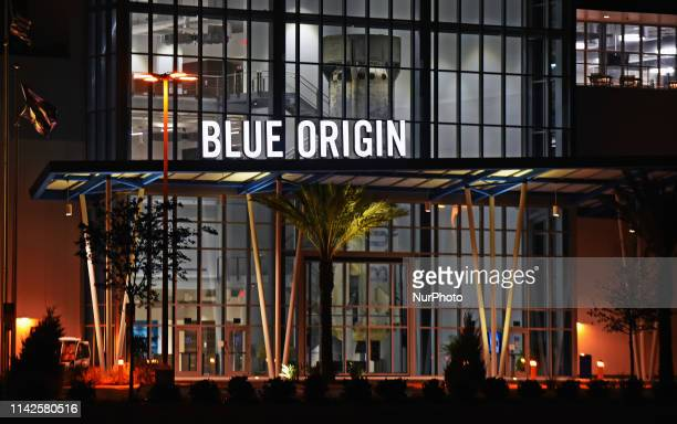 Blue Origin's New Glenn rocket factory is seen at Kennedy Space Center's Exploration Park on May 3, 2019 in Merritt Island, Florida. On May 9 Blue...