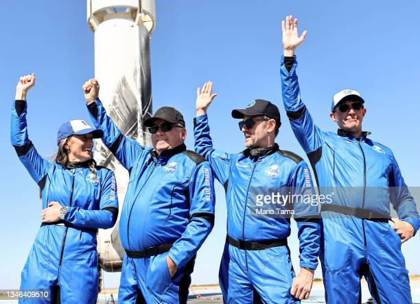 Blue Origins vice president of mission and flight operations Audrey Powers, Star Trek actor William Shatner, Planet Labs co-founder Chris Boshuizen...