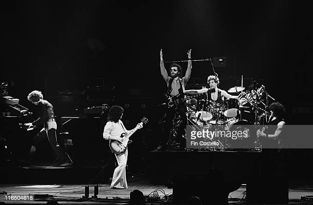 Blue Oyster Cult US rock band on stage during a live concert performance at the Hammersmith Odeon in London England Great Britain in 1978