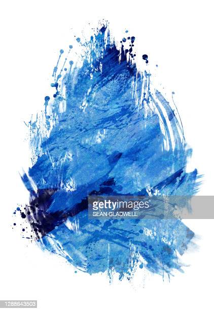 blue paint abstract - blue stock pictures, royalty-free photos & images
