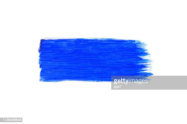 blue paint - stroking stock pictures, royalty-free photos & images