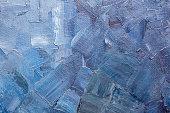 Blue paint texture on a canvas