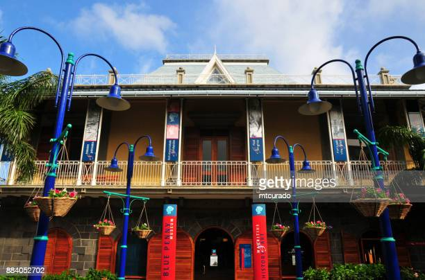blue penny museum, port louis, mauritius - port louis stock photos and pictures