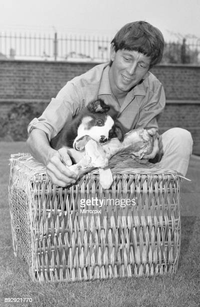 Blue Peter presenter John Noakes, seen here with the programmes new border collie puppy. The viewers will be invited to suggest a name when the new...