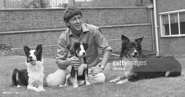 Blue Peter presenter John Noakes seen here with the programmes new border collie puppy and his parents The viewers will be invited to suggest a name...