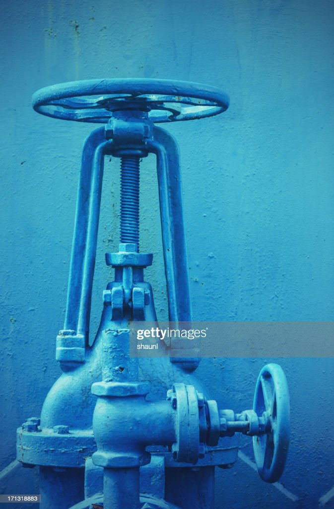 Blue Pipes : Stock Photo