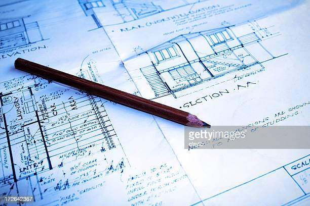 blue plans: technical drawing and design