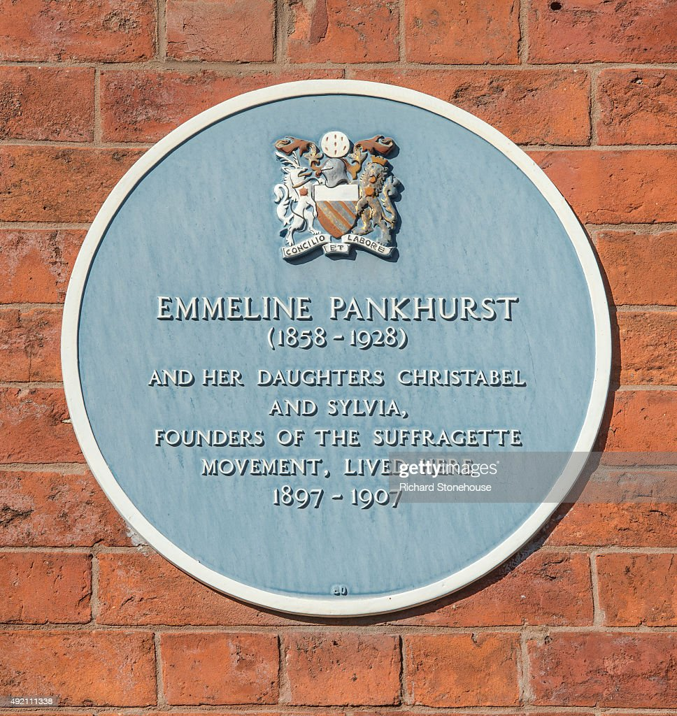 A Blue Plaque is displayed on the Pankhurst Centre, the former home of Emmeline Pankhurst and where the Suffragette movement began on October 8, 2015 in Manchester, England. The Pankhurst Centre was home to Emmeline Pankhurst and her daughters Christabel and Sylvia and is the birthplace of the Suffragette campaign for Votes for Women. The Parlour where the first WSPU (Women's Social and Political Union) meeting was held has been recreated as part of the museum which also hosts a number of women's organisations, projects that support women and a food bank.