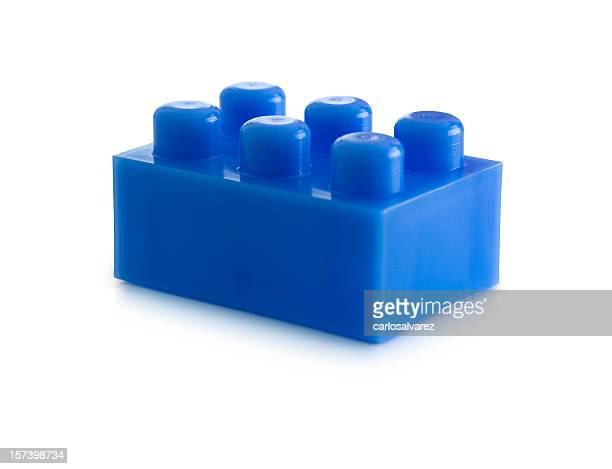 Blue Plastic Block w/Clipping Path