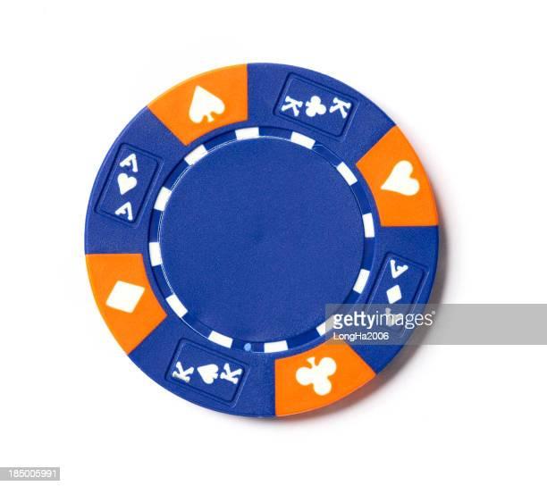 ブルーのポーカーチップ