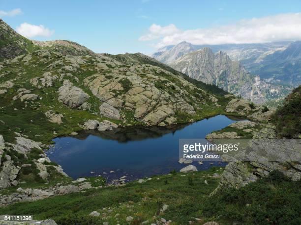 Blue Pond In The Valais Tschawina, Switzerland