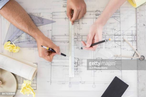 Blue print from architect's point of view