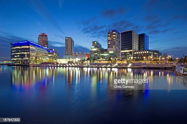 blue quays.... - salford stock pictures, royalty-free photos & images