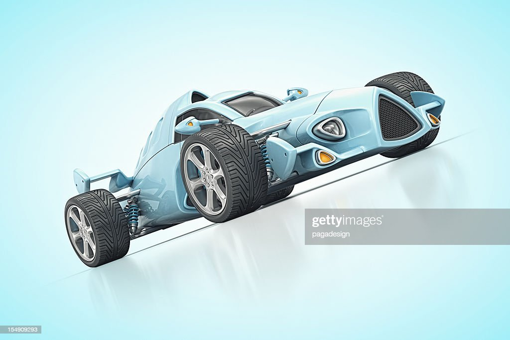 blue racecar : Stock Photo