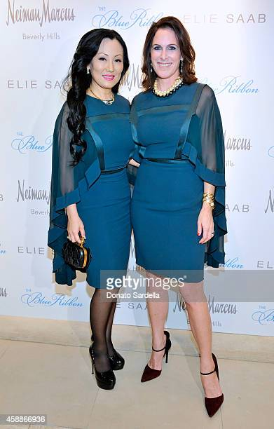 Blue Ribbon Luncheon Cochairs Judy Chang and Bridget Gless Keller attend Elie Saab Ready To Wear Spring 2015 Presentation Luncheon at Neiman Marcus...