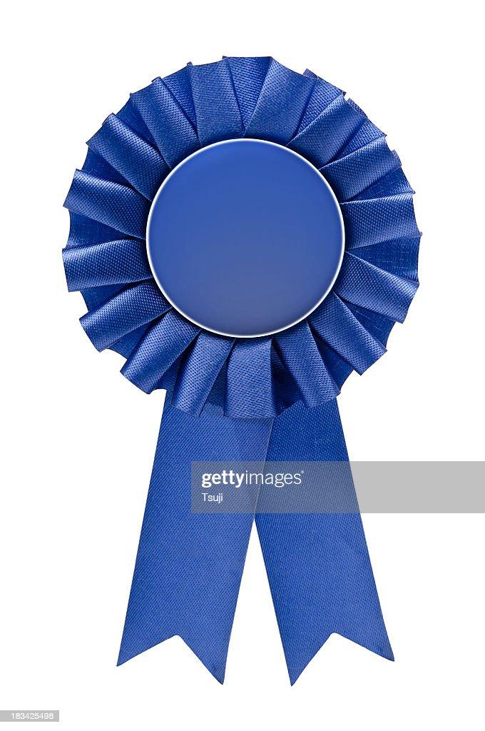 Blue ribbon : Stock Photo