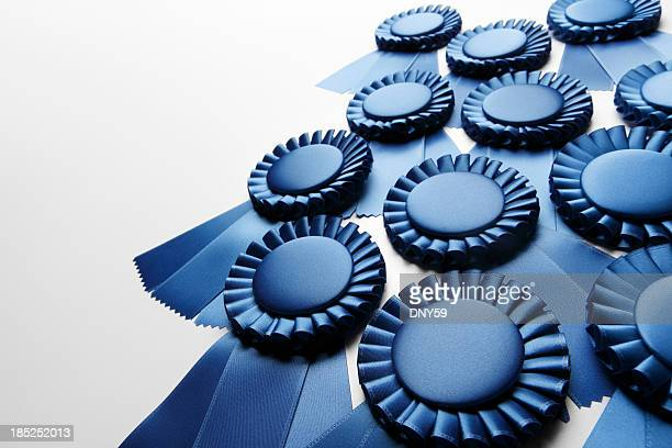 blue ribbons - blue ribbon stock photos and pictures