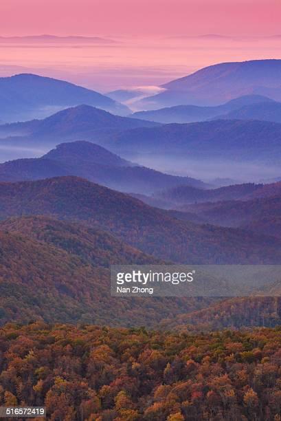 blue ridge dawn - appalachia stock pictures, royalty-free photos & images