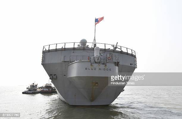Blue Ridge during a visit to India for a regularly scheduled port visit to promote friendships and strengthen ties on April 4 2016 in Mumbai India...