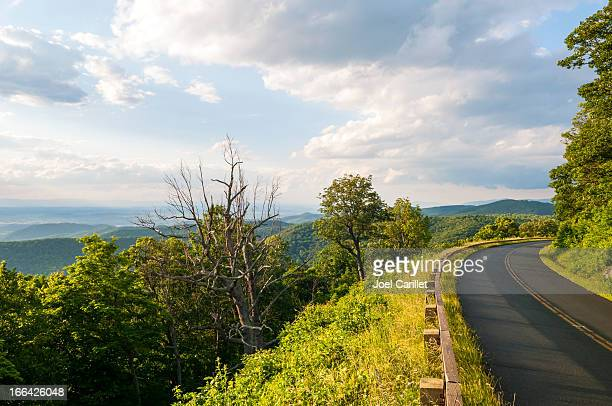Blue Ridge Parkway road and landscape