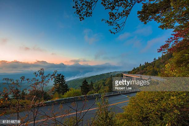 blue ridge parkway viaduct - blue ridge parkway stock pictures, royalty-free photos & images