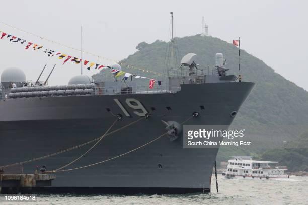 USS Blue Ridge US warship mooring near western Hong Kong 29APR16 SCMP/Edward Wong
