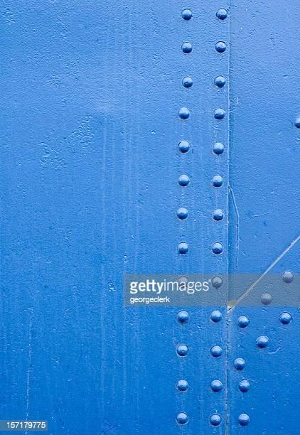 Blue Rivet Grunge Background