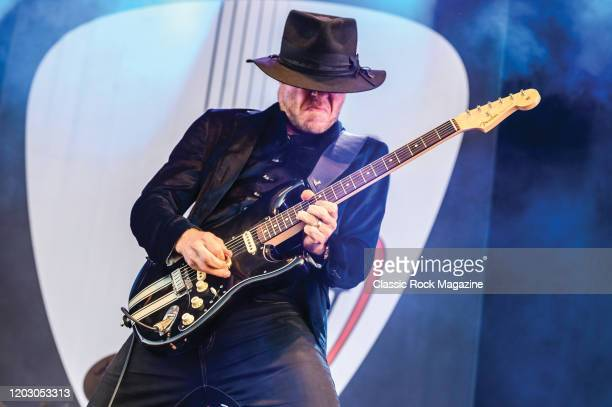 Blue rock guitarist Kenny Wayne Shepherd performing live on stage during Ramblin Man Fair music festival at Mote Park in Maidstone, England, on July...