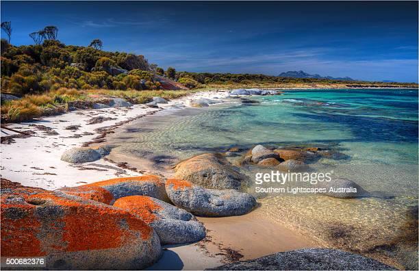 Blue Rocks, an area of coastline just north of Whitemark, Flinders Island, Bass Strait, Tasmania.