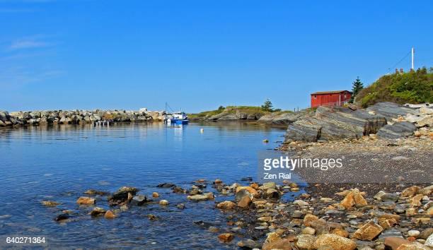 Blue Rocks landscape in Nova Scotia, Canada
