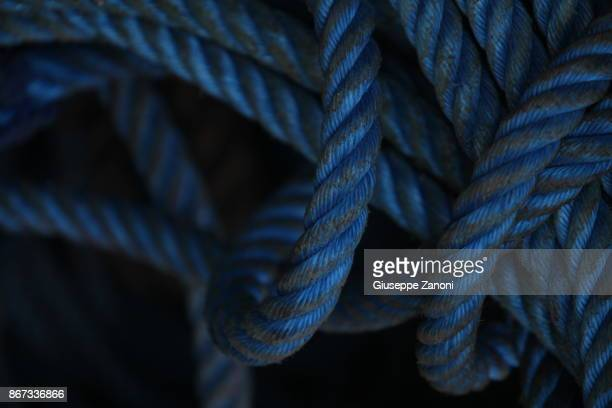 blue rope - navy blue stock pictures, royalty-free photos & images