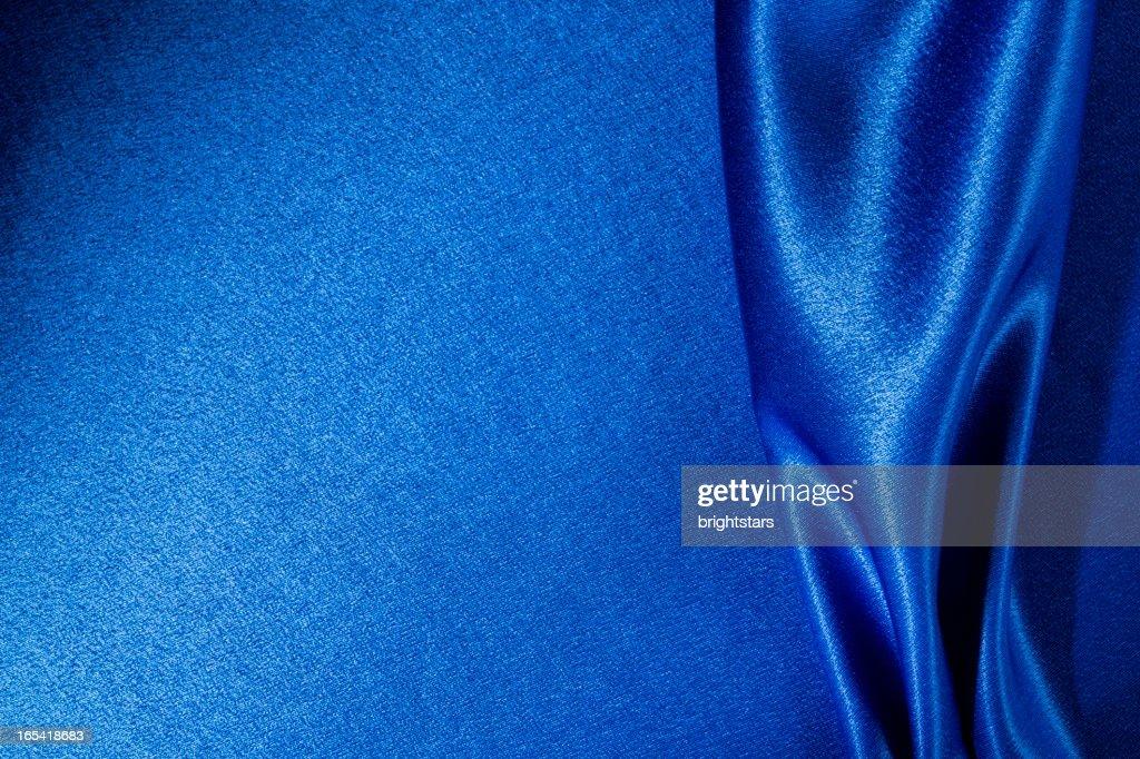Blue satin : Stock Photo