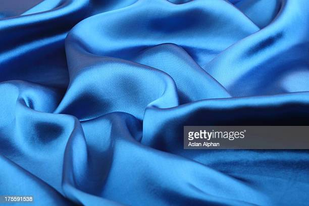 blue satin - velvet stock photos and pictures