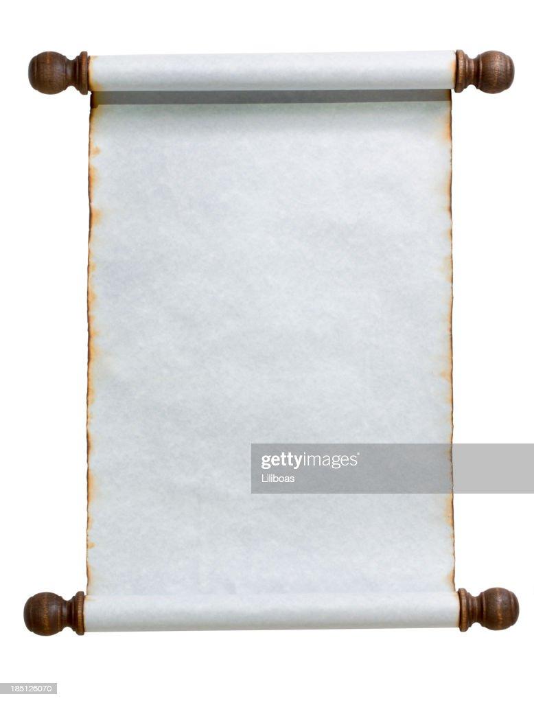 Blue Scroll : Stock Photo