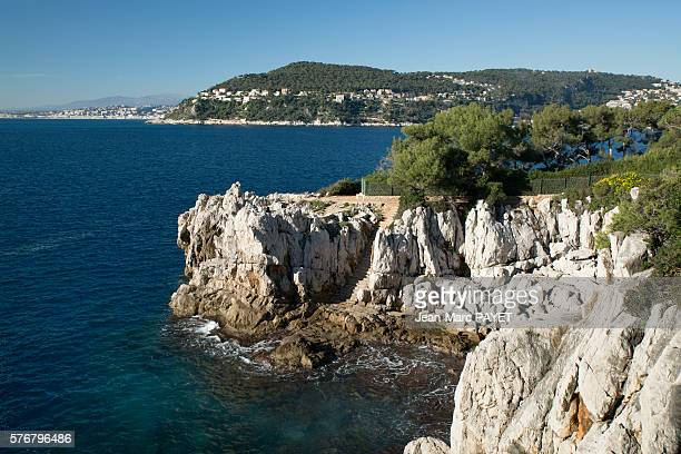 blue sea and provençal coast - jean marc payet stock pictures, royalty-free photos & images