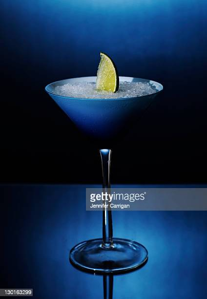 Blue shark martini