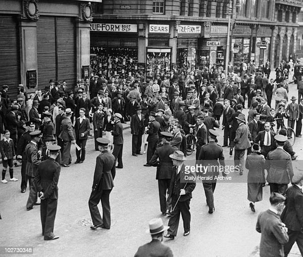 Blue Shirt riot scenes in O'Connell Street Dublin Republic of Ireland 15 October 1933 The Blue Shirts were an Irish fascist movement founded by the...