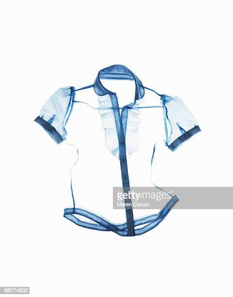 blue shirt seems - blouse stock pictures, royalty-free photos & images