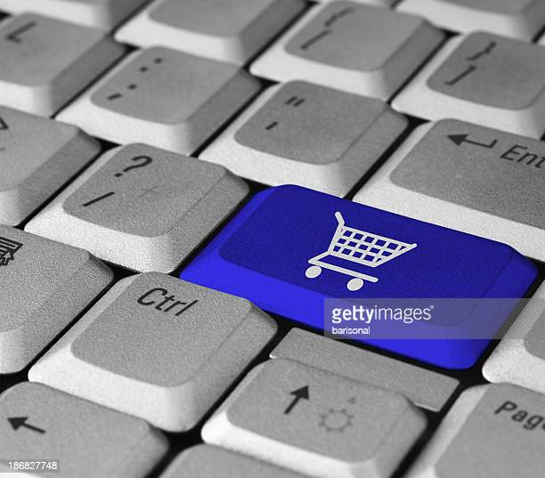 Blue Shopping Button