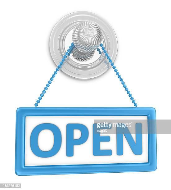 青いサイン-Open Door