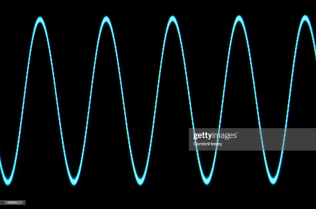 Blue Sine Wave With No Grid Stock Photo - Getty Images