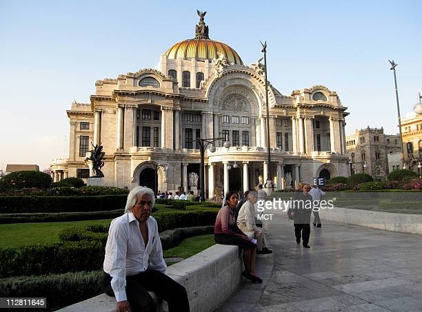 Blue skies are the backdrop to the Bellas Artes Palace in downtown Mexico City March 24 2010