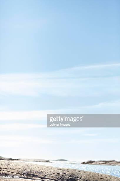 Blue sky above sea