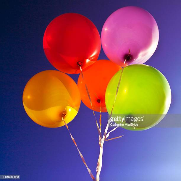 Blue sky and balloons
