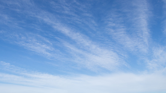 Blue sky and beautiful cloud in winter.cirrus cloud - gettyimageskorea