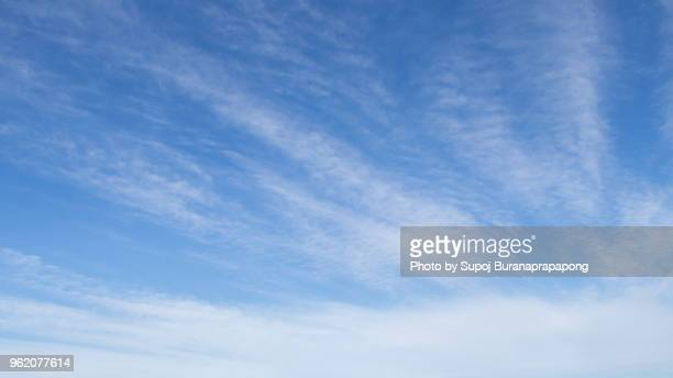 blue sky and beautiful cloud in winter.cirrus cloud - overcast stock pictures, royalty-free photos & images